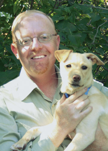 Author Alan Tucker and his dog Penny (courtesy photo)